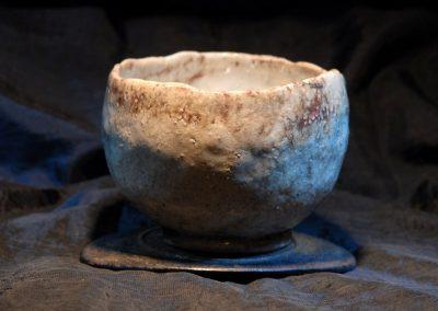 Egy tea Japánért 2011. május 23. Bp. Műcsarnok2.Vörös Rakuyaki Teáscsésze