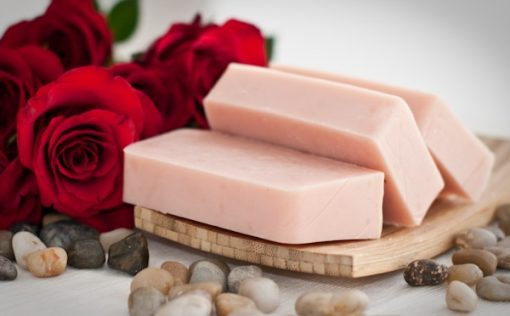 Rózsa, geránium szappan