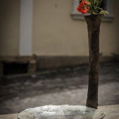 váza tál, pipacs xízjeles