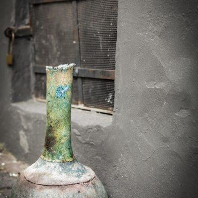 váza türkiz nyakkal