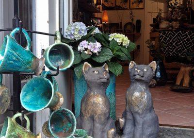 nyár macskákkal és napfürdővel