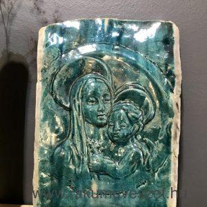 Mária falikép zöldelő türkiz