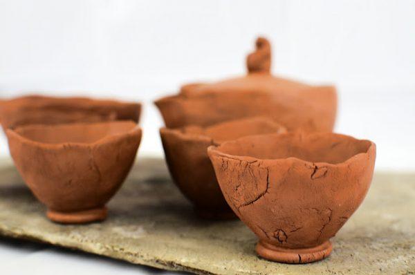 Jápán teáskészlet: Hoihin, vízhűtő és 5 db csésze teatálcával