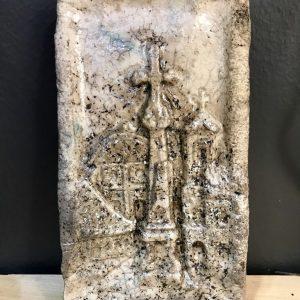 Szentendrei raku kerámia falikep, Főtér