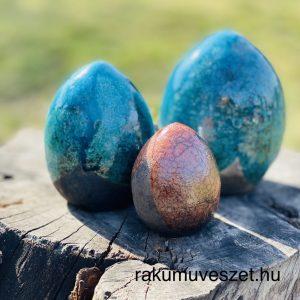 Húsvéti tojások raku színesen, hímesen