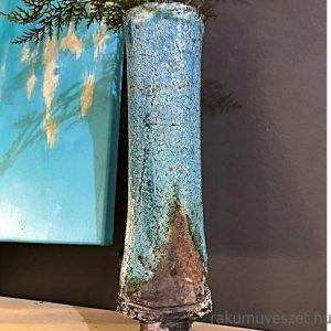 Áthallások ..türkizen, raku kerámia váza