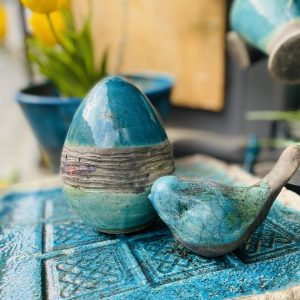 Húsvéti raku tojás, a boldogság kék madarával