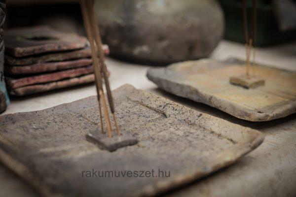 Raku füstölő tál ..lecsendesült forma és színvilág