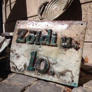 Utca és ház szám táblák rendelésre