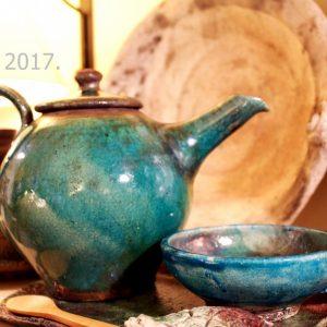 A különleges reggelekhez, 2 személyes pompázatos türkiz raku teáskészlet