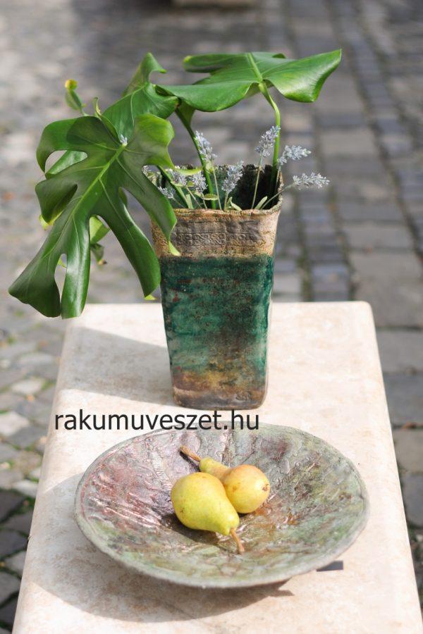 Váza színtiszta türkizzöld