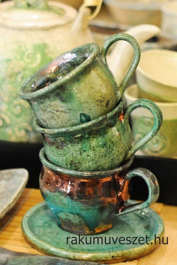 Csészék raku türkizben