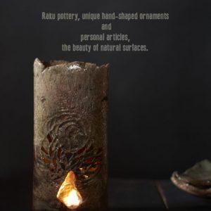 Raku aromamécses Főnix jelképppel